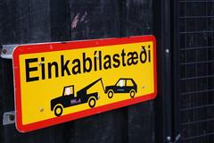 Reykajvk, Iceland (bnicoll2020) Tags: road park street city urban car sign warning iceland parking reykjavik icelandic