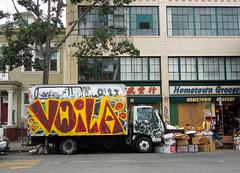 (gordon gekkoh) Tags: truck graffiti oakland snort voila meih27