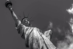 NYC - Statue of Liberty (blink to click) Tags: nyc newyorkcity blackandwhite sculpture usa newyork monument monochrome statue freedom unitedstatesofamerica click statueofliberty blink bigapple immigrant libertyisland ilovenewyork immigrate nikond80 blinktoclick