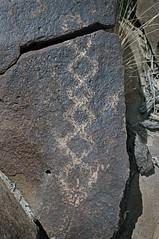 Petroglyph / Fish Lake Valley Site (Ron Wolf) Tags: archaeology nevada nativeamerican petroglyph anthropology rockart diamondpattern