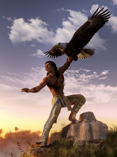 Warrior and Eagle