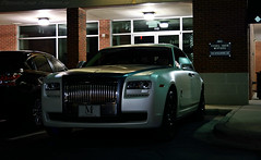 Rolls-Royce Ghost (Nicholas Normile) Tags: auto white nc charlotte south ghost group wrapped end rolls royce steakhouse sullivans metrolina