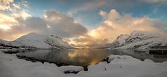 sunshine and snow showers (John A.Hemmingsen) Tags: tromso ersfjordbotn norge norway landscape winter snow fjord fujifilm xt2 panorama