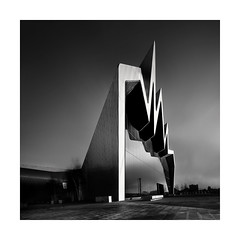 /\/\/\ (Nick green2012) Tags: architecture blackandwhite square longexposure scotland museum modern buildings