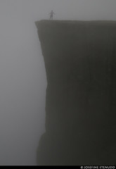 20160607_08 Random tourist in fog | Preikestolen, Norway (ratexla) Tags: ratexla'snorwaytrip2016 norway 7jun2016 2016 canonpowershotsx50hs norge scandinavia scandinavian europe beautiful earth tellus photophotospicturepicturesimageimagesfotofotonbildbilder europaeuropean summer travel travelling traveling norden nordiccountries roadtrip wanderlust journey vacation holiday semester resaresor landscape nature scenery scenic ontheroad sommar gsgsgs hike hiking vandra vandring favorite