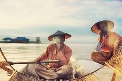 Every fisherman needs his vice~ myanmar (~mimo~) Tags: sunrise documentary hat cigarettes boat smoke lake inle fisherman asia burma mimokhairphotography myanmar travel
