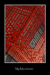 My Manchester in Red (LeBlanc_Nigel) Tags: colorsinourworld manchester building architecture red reflection window art design modern downtown city uk outdoor color colour