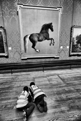 Whistlejacket at the National Gallery (MKHardyPhotography) Tags: london nationalgallery whistlejacket distagont3518 mkhardy streetphotography blackandwhite