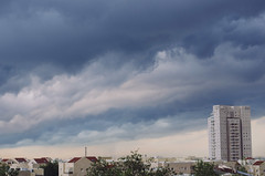 Layers of looming clouds (Paul Jacobson) Tags: brooding cityscape clouds skyline storm