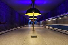 Westfriedhof (sarah_presh) Tags: westfriedhof underground platform tube metro munich germany train speed nikond750