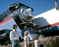 Memorable portrait, 1976 (clarkfred33) Tags: portrait family children attitude americanfreedomtrain 1976 sp4449 history aft lakeland historicphoto southernpacific sphistory steamlocomotive famouslocomotive historiclocomotive bicentennial celebration memory