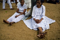 On Break (alisdair jones) Tags: ef35mmf14lusm women seated worshippers buddhist jayasrimahabodhiya anuradhapura srilanka