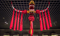 2016 - China - Shanghai - 6 of 34 (Ted's photos - Returns Mid May) Tags: 2016 china cropped nikon nikond750 nikonfx shanghai tedmcgrath tedsphotos vignetting shanghaimuseum shanghaichina museum ribbon redribbon red redrule art sculpture