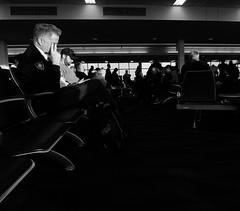 Interminable (Score Photos) Tags: shadows highlights pondering ponder gate airport waiting blackandwhite fujixq1 xq1 fuji fujifilm