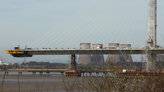 The Mersey Gateway Bridge Under Construction (Dawn Imagination Stables II) Tags: bridge construction engineering built build scaffold scaffolding large massive brisges mersey gateway runcorn liverpool architecture building environment road motorway floating crane cranes bridges