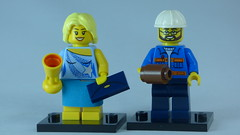 Brick Yourself Bespoke Custom Lego Figure Beautiful Dancer with Construction Worker Boyfriend