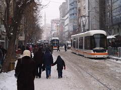 Bombardier Flexity Outlook trams, İki Eylül Caddesi (2nd September Street), Eskişehir, Turkey (Steve Hobson) Tags: bombardier flexity outlook tram eskişehir estram