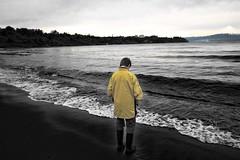Your only option (alejandro krok) Tags: blanco negro bn blackandwhite yellow drakness chile sudamerica photographer volcano lake young whiteandblakc wb bw