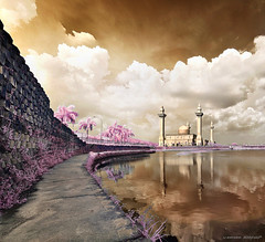 jelutong iR (sirman88) Tags: light panorama motion building tree architecture interestingness dusk mosque glorious malaysia slowshutter infrared goldie pointing shahalam d90 traveldestinations sirman photographyoutdoors azmanrahman sirman88
