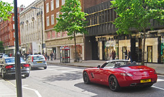 Roadster (James_Greasley) Tags: street roof sun london cars car mercedes down supercar spotting sls amg supercars roadster