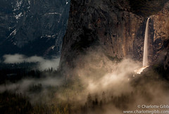 Bridalveil Fall Winter Yosemite National Park (Charlotte Hamilton Gibb) Tags: california winter usa fog clouds landscape waterfall nationalpark falls yosemite yosemitenationalpark yosemitevalley bridalveilfall yosemitenp landscapephoto charlottegibb