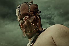165 (Drummy ) Tags: leather mask photoshopped dramatic battle story series warriors 365 bloody cinematic gladiator gladiators drummy drumrollstuidos