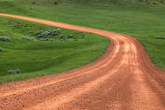 Red Road Green Grass (gordeau) Tags: road red green grass gordon northdakota ashby twocolours flickrchallengegroup flickrchallengewinner thechallengefactory gordeau missourinationalgrassland