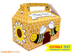 PDF Printable Honey Bee Gift Box with Editable Text - Personalize Yourself - INSTANT DOWNLOAD (Cutezville Printables) Tags: birthday summer flower cute art yellow cake digital paper print fun design cupcakes diy icons day message sweet box drawing unique text craft file bee note cupcake honey card gift elements download sweets boxes pdf treat create etsy build ideas favor greeting making yourself beehive development template wrapper goody edit wrappers papermaking personalize giftbox cardstock printables printable favour cutesville changeable editable personalise papergoods treatbox cuteideas paperelements cutezville