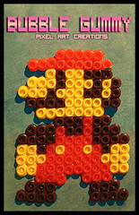 Mario Bros (Bubble Gummy pixel art) Tags: nintendo retro videogames pixelart mariobros videojuego videojuegos hamabeads bubblegummy bubblegummypixelart