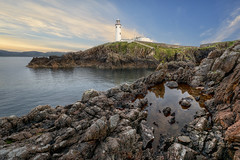 Fanad Rock Pool View (Gareth Wray - 13 Million Views, Thank You) Tags: ocean county old blue ireland light sunset sea summer vacation sky irish sun lighthouse house holiday seascape seaweed building tourism nature water pool rock set reflections lens landscape photography pond nikon rocks europe lough photographer angle head wide scenic rocky landmark sealife visit tourist calm cliffs historic atlantic shore fox waters hd nikkor gareth hdr donegal wray fanad swilly strabane tonemapped 1024mm d5200 hdfox