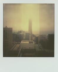 Transamerica View 20130718 (Jeremy Brooks) Tags: sanfrancisco california usa film fog polaroid sx70 cityscape scan transamerica transamericabuilding dailyview sanfranci