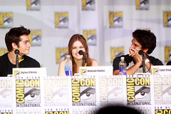 Dylan O'Brien, Holland Roden & Tyler Posey (Gage Skidmore) Tags: california max dylan holland jeff reed san wolf comic crystal daniel diego center tyler charlie teen mtv obrien convention carver davis con sharman roden posey 2013 hoechlin