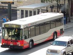 824 22 (1) Hays (transit addict 327) Tags: red bus sanantonio downtown via nabi 40lfw