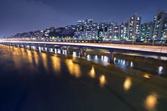 riverside expressway (bluesbird83) Tags: light night canon riverside korea seoul expressway hanriver