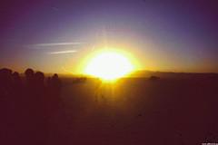 Dawn in the middle of Uyuni (JF Sebastian) Tags: people landscape dawn bolivia scannedslide uyuni saltflat againstthelight rutaquetzal digitalized morethan100visits morethan250visits rutaquetzal1996 oldfilmautomaticcamera