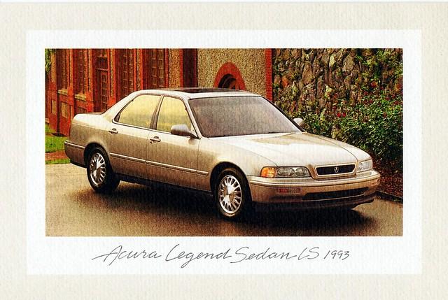 sedan 1993 legend acura ls notecard