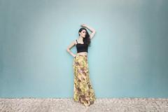 Anne Carolline para Tressam (Miss Par) (gabrielbessa) Tags: fashion wall model stair dress