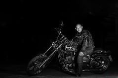 b&w-1073 (willykatie) Tags: bw bike 50mm nikon engine motorbike motorcycle cruiser touring d90 f18g