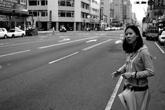 Taichung: the beautiful Miss Megan (MagnusCaleb) Tags: street bw girl asian photography taiwan megan taichung taiwanese steet nikond700