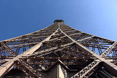Up the Eiffel Tower (stephen-cleary) Tags: paris france lines curves eiffeltower perspective toureiffel