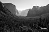 Tunnel View (Seth Berry Photography) Tags: california park morning bw white black mountains view tunnel national valley yosemite granite halfdome yosemitenationalpark elcapitan yosemitevalley sethberryphotography