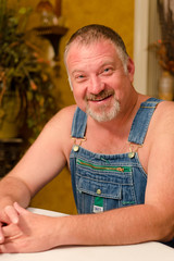 Jeff-4x6-2989 (Mike WMB) Tags: bear smile goatee country overalls mustache