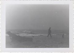 blustery (lydiafairy) Tags: ocean cold beach rain vintage found waves windy vernacular foundphoto blustery vintagephoto