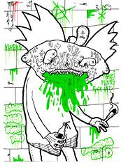 Arnold Barfing (VLCERS) Tags: art illustration artwork artist drawing hey arnold illustrator illuminati vlcers iheartvlcers