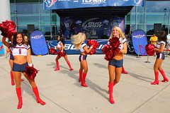 IMG_8937 (grooverman) Tags: plaza game sexy canon eos rebel football nice texas cheerleaders legs boots stadium nfl houston t3 dslr budweiser texans pregame reliant 2013