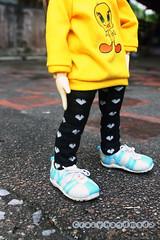 Tweety set (nubanded) Tags: yellow doll little small tshirt tiny bjd cloth tweety fee ante lati littlefee pukifee