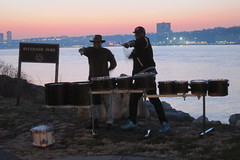 MM guys (5) (Mr Flikker) Tags: sunset newyork harlem hudsonriverpark drummers riversidepark timbales tomtoms marchingdrums