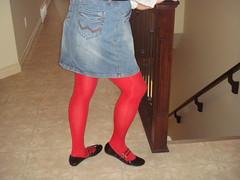 Two strap MaryJane flats (dbbys shoes) Tags: red sexy stockings girl tv shoes cross cd mary tights skirt blouse hose tgirl flats blond transvestite strap mjs schoolgirl miniskirt crossdresser crossdress dressed straps maryjane skirts nylons janes patent crossdressed tgurl