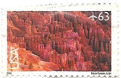 USA stamp - 63 cents - Bryce Canyon (sftrajan) Tags: usa nationalpark unitedstates stamps stamp brycecanyon nationalparks timbre postagestamp airmail philately sello brycecanyonnationalpark briefmarke  francobollo  63cents