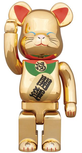 BE@RBRICK  金色電鍍 招財貓:貳 100% & 400%